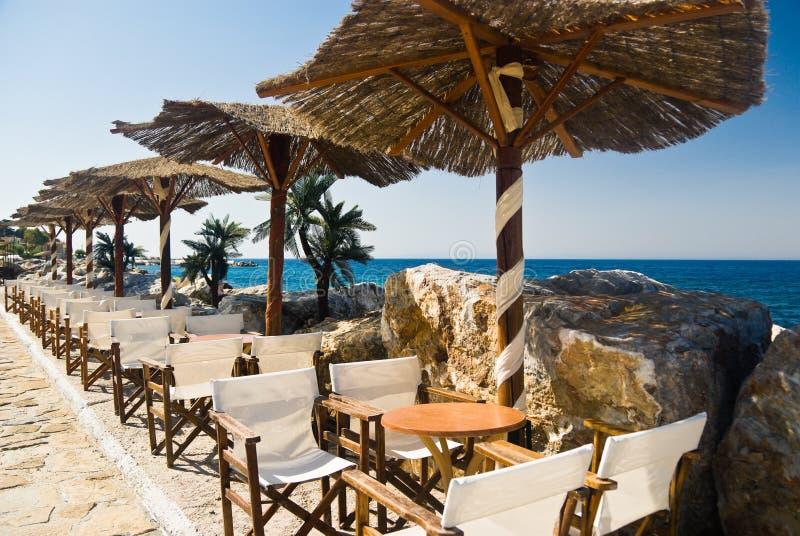 Café em uma praia foto de stock royalty free