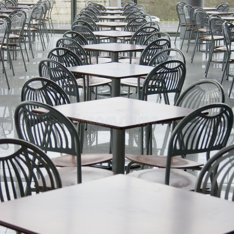 Café en centro comercial imagen de archivo