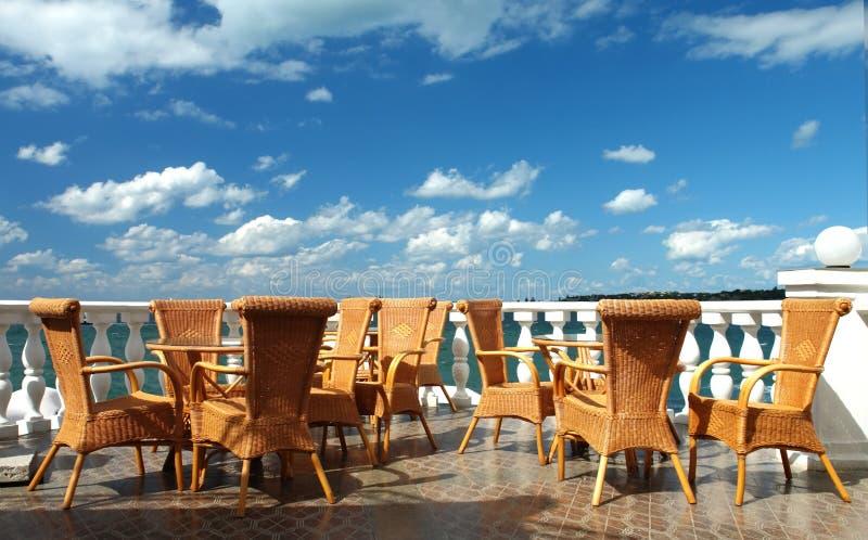 Café en el mar imagen de archivo libre de regalías