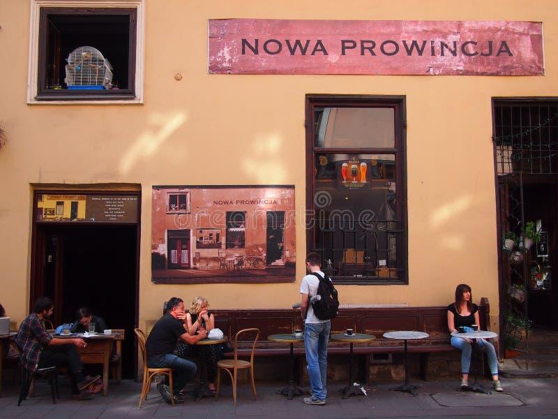 Café en Kraków foto de archivo libre de regalías