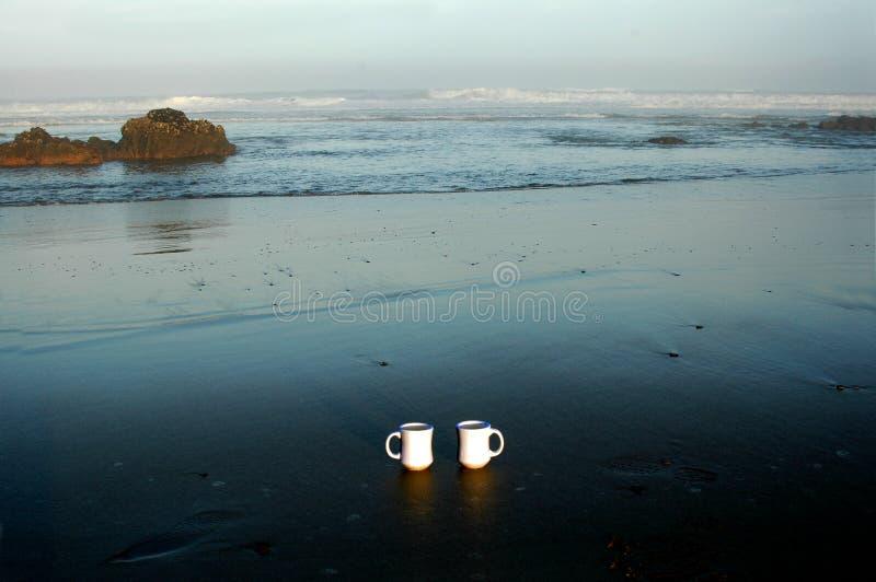 Café en la playa foto de archivo libre de regalías