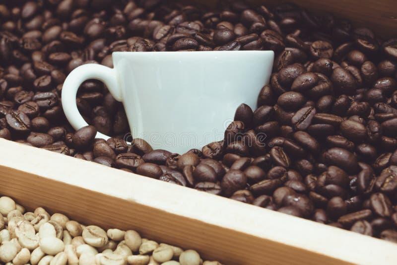 Café en la producción fotografía de archivo libre de regalías