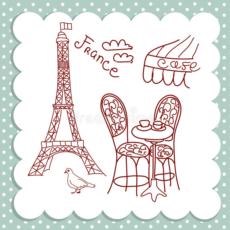 Café en París imagen de archivo