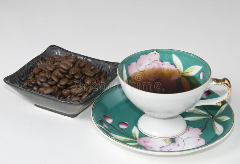 Café en taza de China imagen de archivo