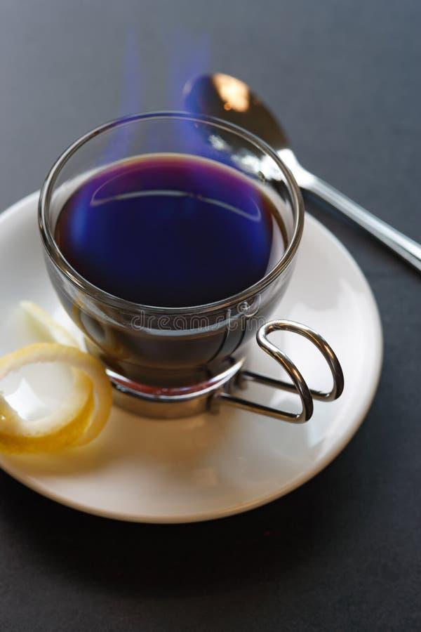 Café español llameante imagenes de archivo