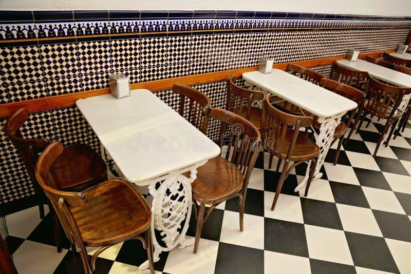 Café espanhol típico em Valência fotografia de stock royalty free