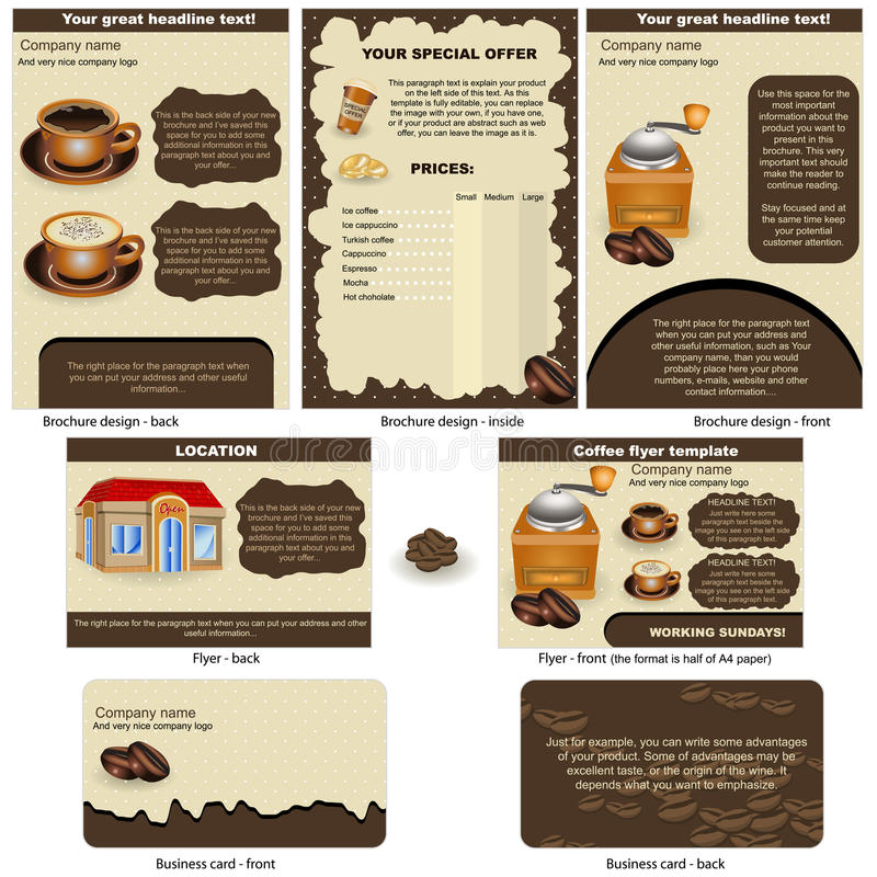 Café estacionário ilustração royalty free