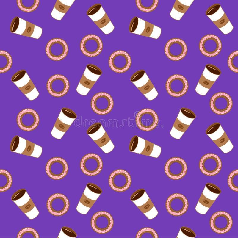 Café et bagels Illustration plate photo stock