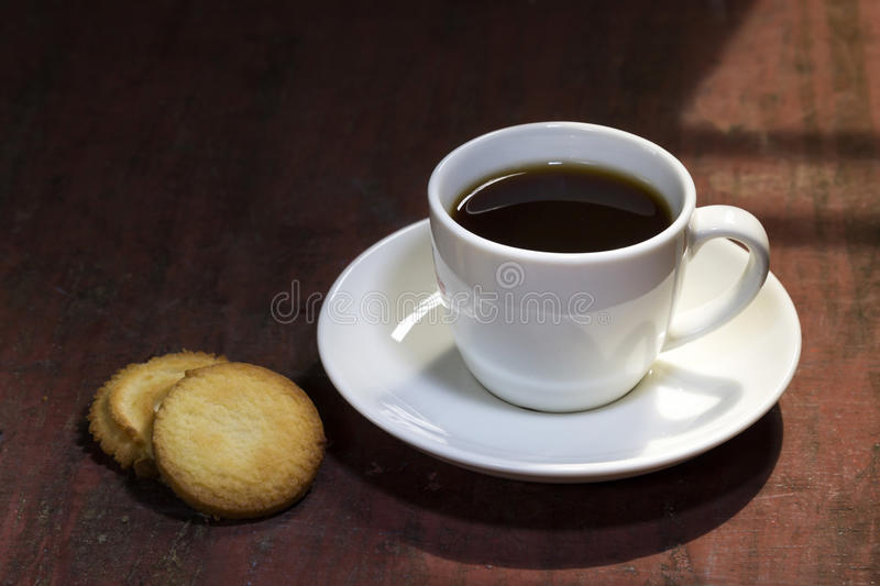 Café et biscuit photographie stock