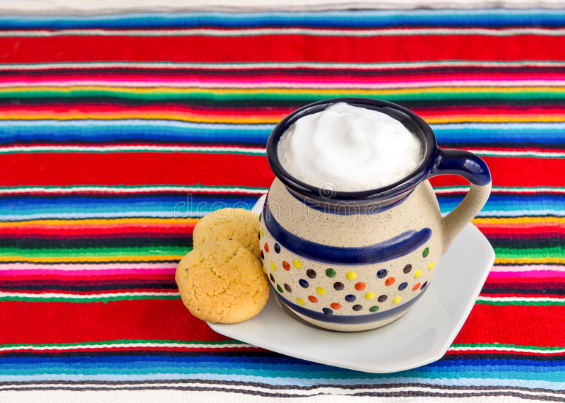 Café et biscuits mexicains photos stock