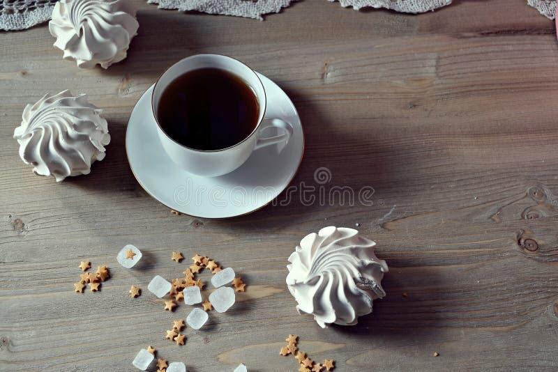 Café et bonbons photos stock