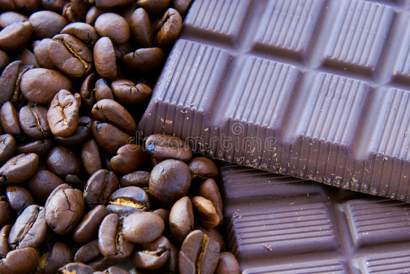 Café et chocolat photographie stock libre de droits