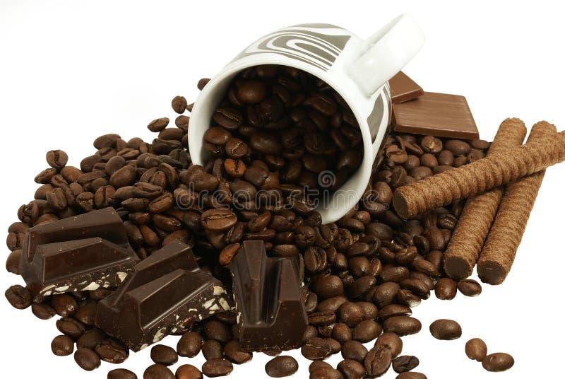 Café et chocolat images stock