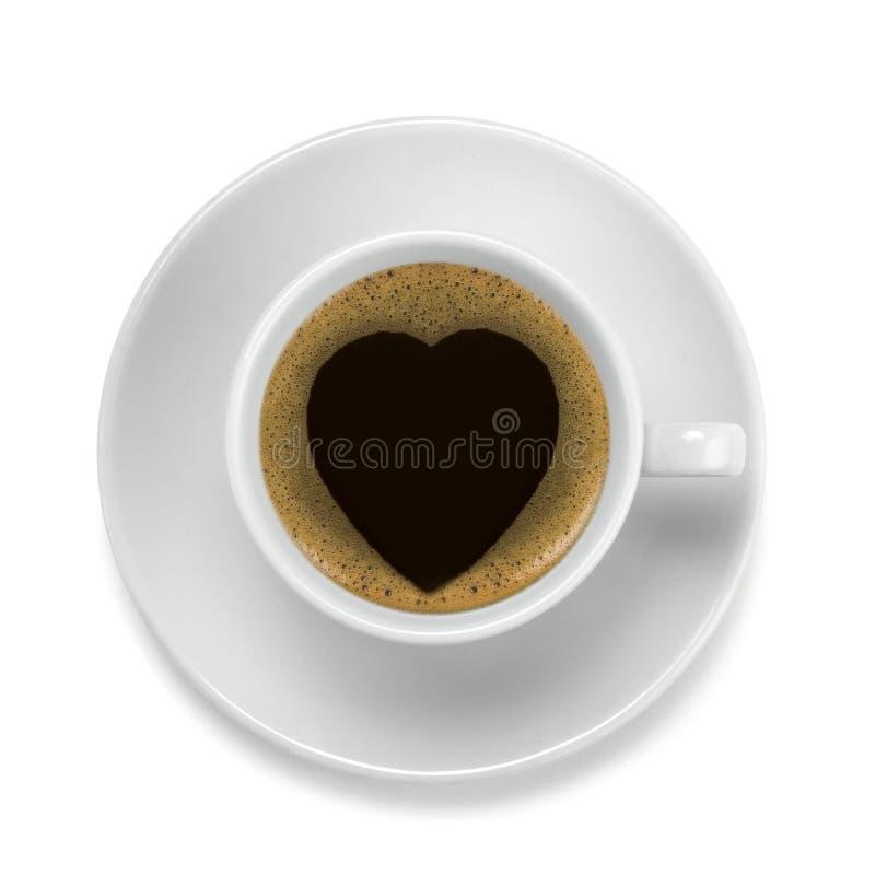 Café et coeur photographie stock libre de droits