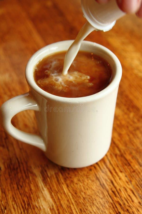 Café et crème image stock