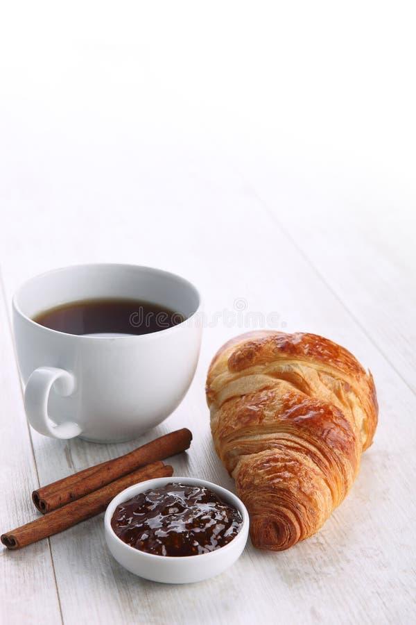 Café et croissant photos libres de droits