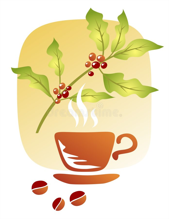Café et cuvette illustration stock