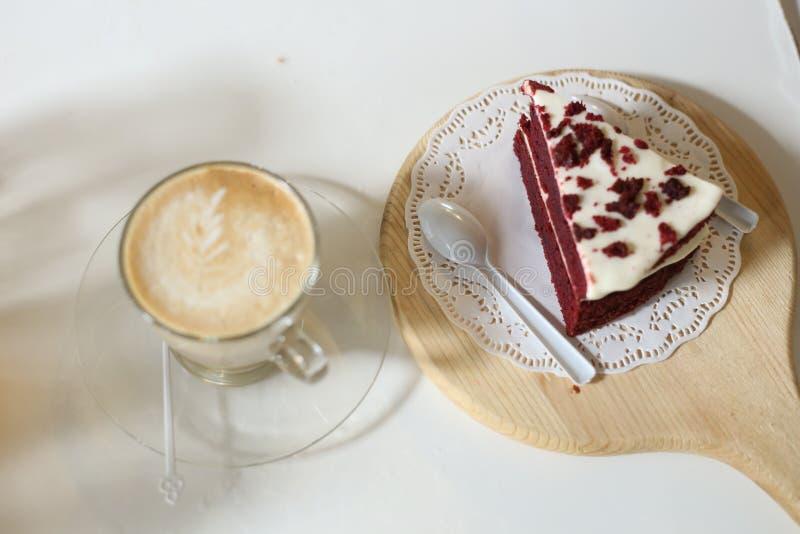 Café et gâteau photo stock