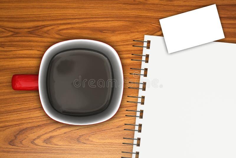 Café et ordre du jour illustration de vecteur