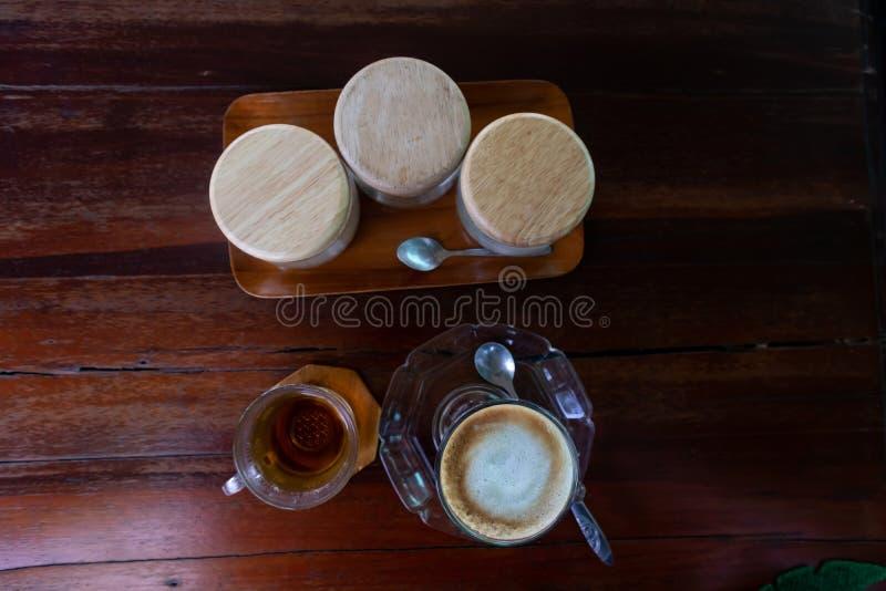 Café et sucre chauds photos libres de droits
