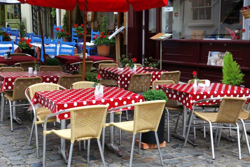 Café europeu da rua imagem de stock