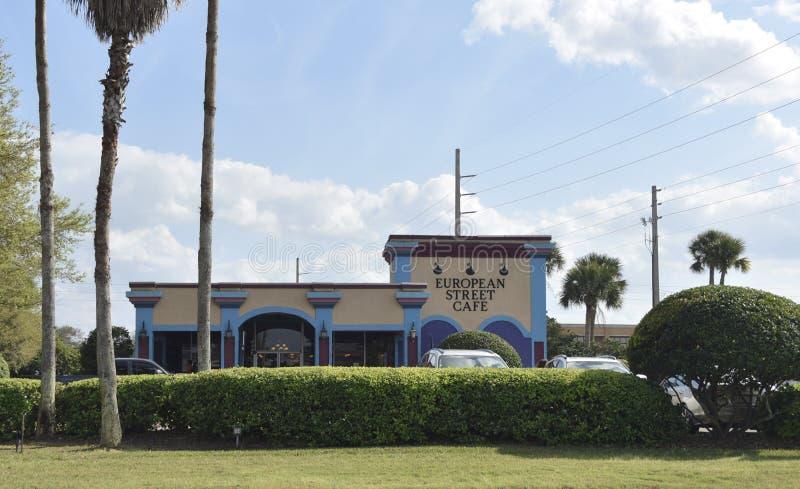 Café europeu da rua, Jacksonville, FL fotografia de stock