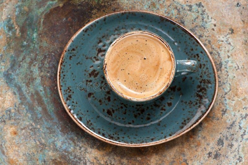 Café express blanco del café de la taza fotografía de archivo libre de regalías