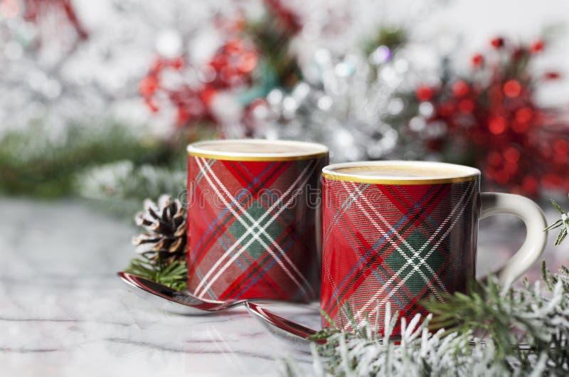 Café express de la Navidad imagen de archivo