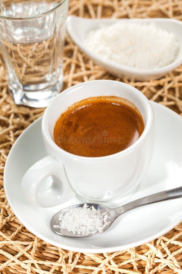 Café express del café, sabor del coco fotos de archivo libres de regalías