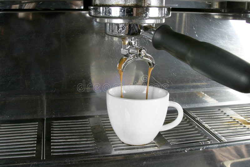 Café express doble imagen de archivo