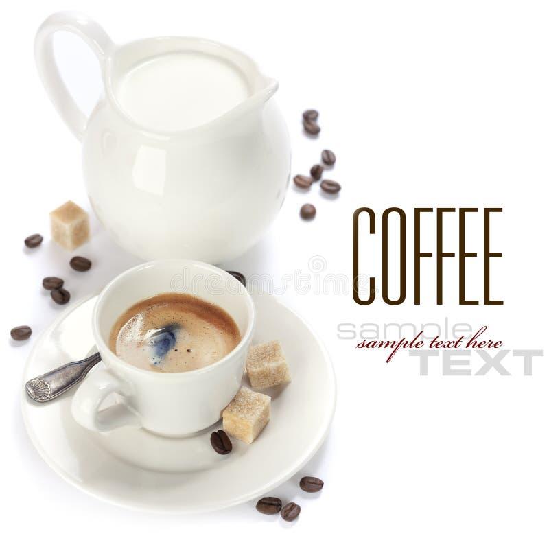 Café Express Et Lait Italiens Images stock