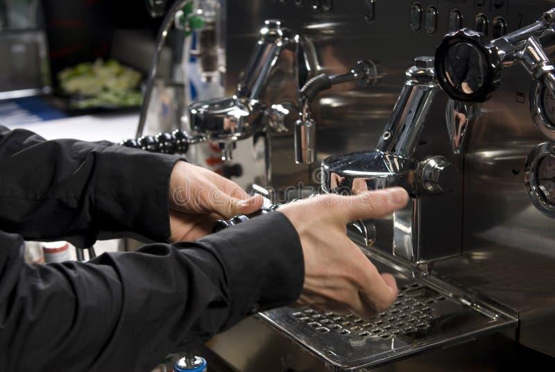 Café express professionnel photo stock