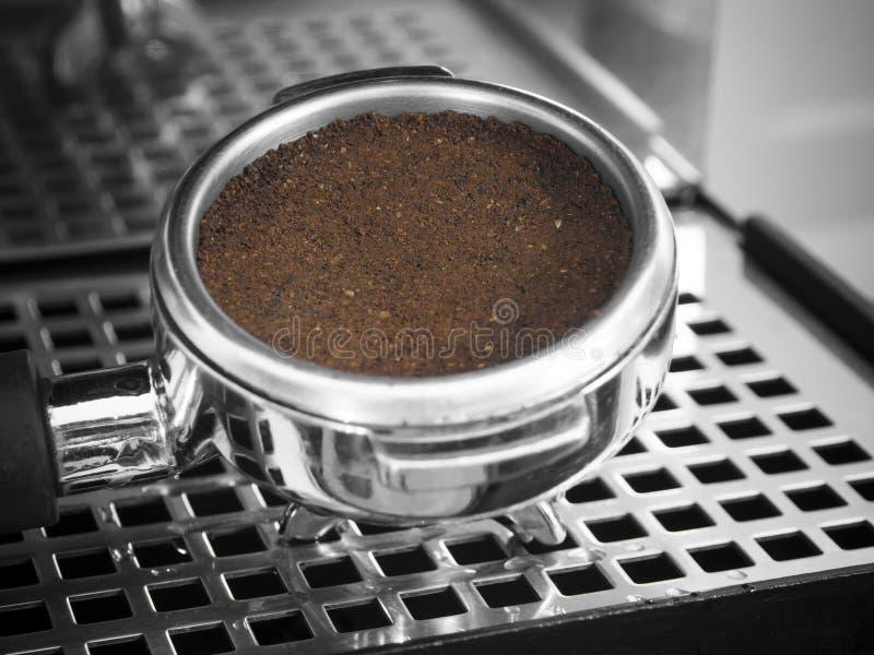 Café express puesto a tierra foto de archivo libre de regalías