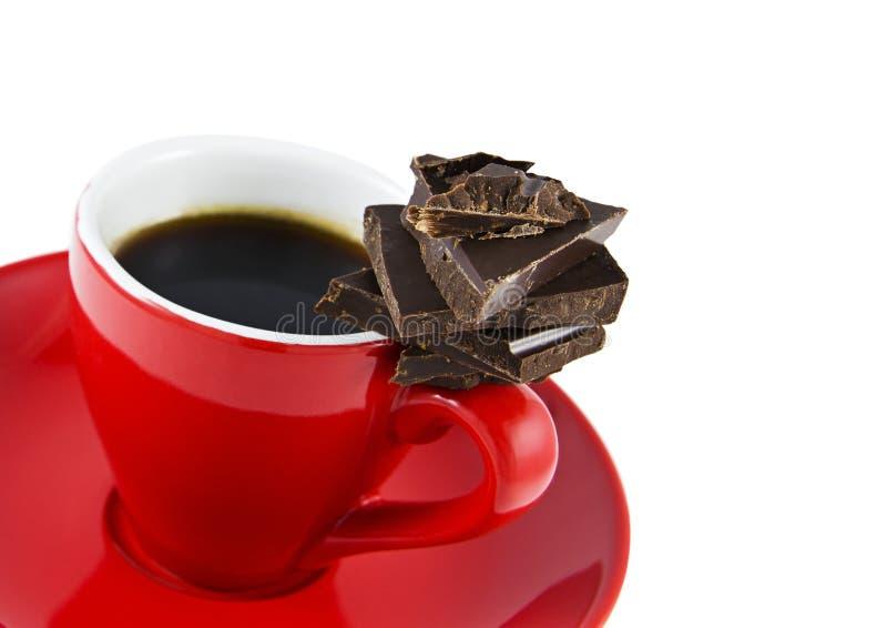 Café express y chocolate fotografía de archivo libre de regalías