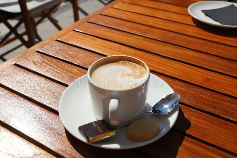 Café, expresso, crème de Caffè, Au Lait de Café images libres de droits