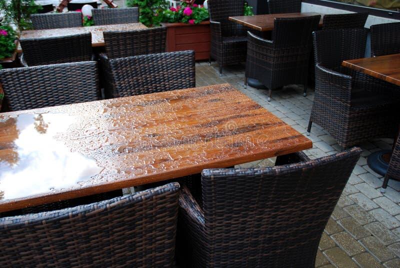 Café extérieur photographie stock