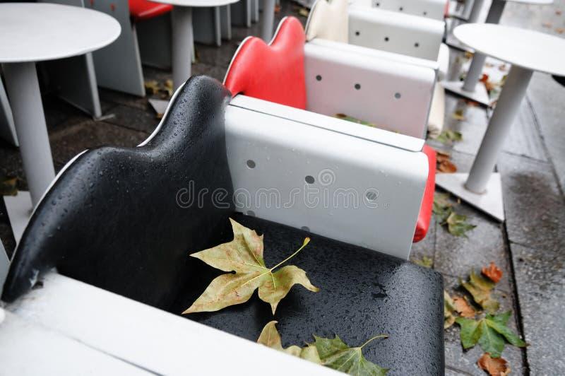 Café extérieur d'automne photos stock