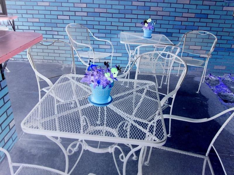 Café exterior do livro fotografia de stock
