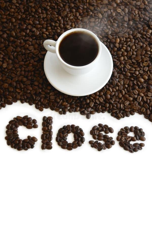 Café fechado fotografia de stock