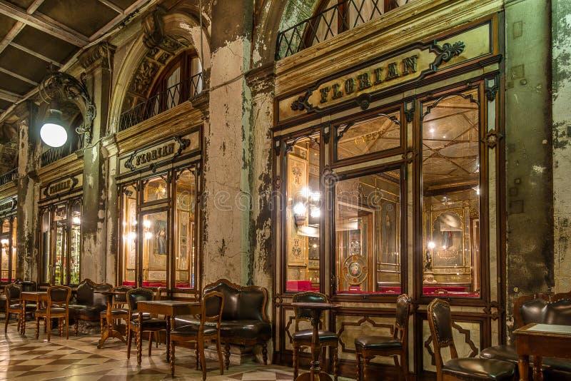 Café Florian na praça San Marco Venice imagem de stock