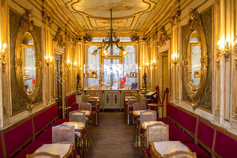 Café Florian, Veneza imagens de stock royalty free