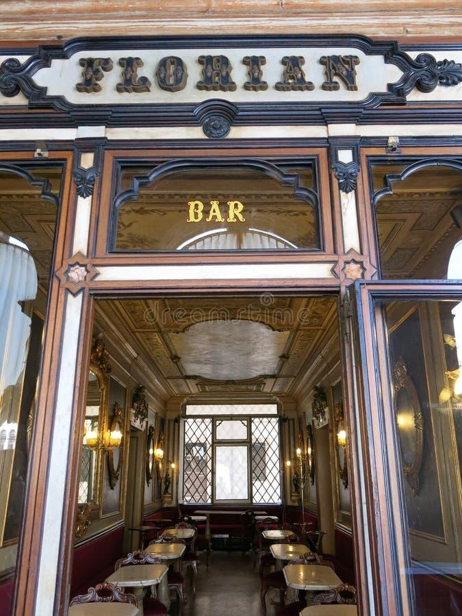 Café Florian, Veneza fotos de stock