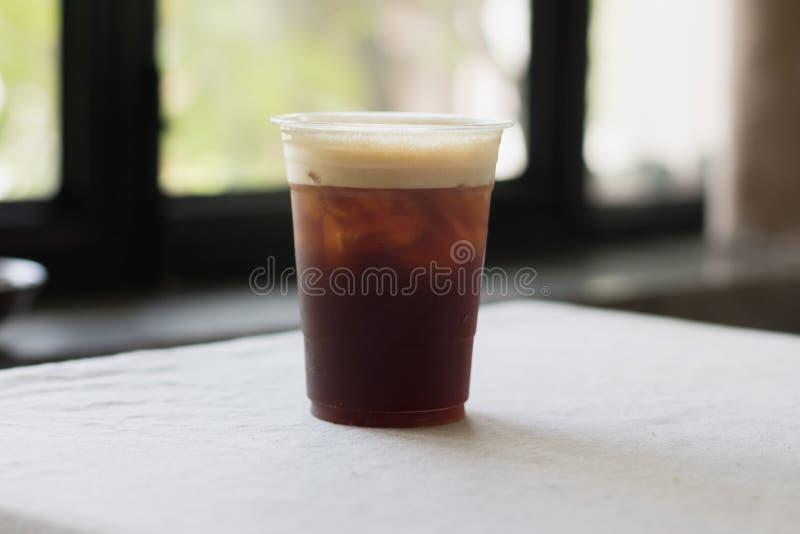 Café frío nitro chispeante del brebaje imágenes de archivo libres de regalías