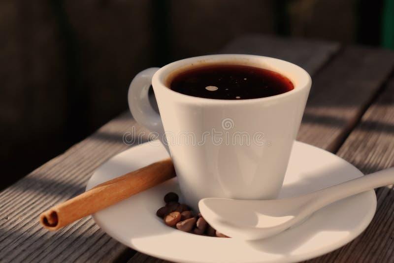 Café fragante en el sol de la mañana fotografía de archivo libre de regalías