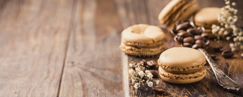 Café français Macarons photographie stock