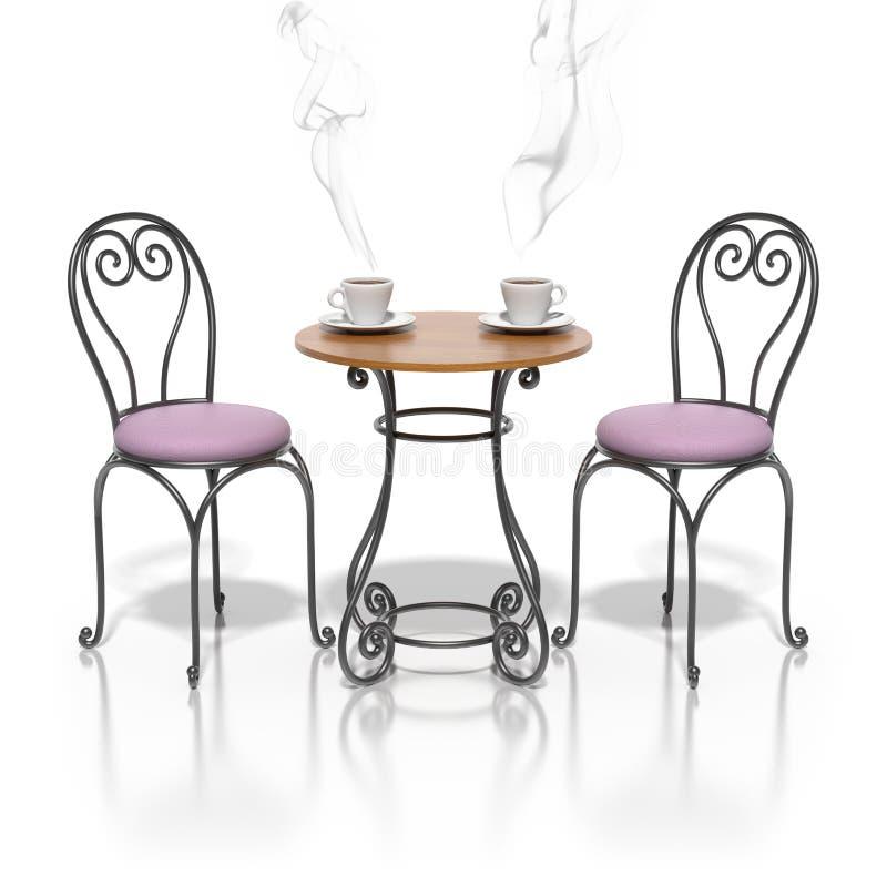 Café francês do passeio ilustração royalty free