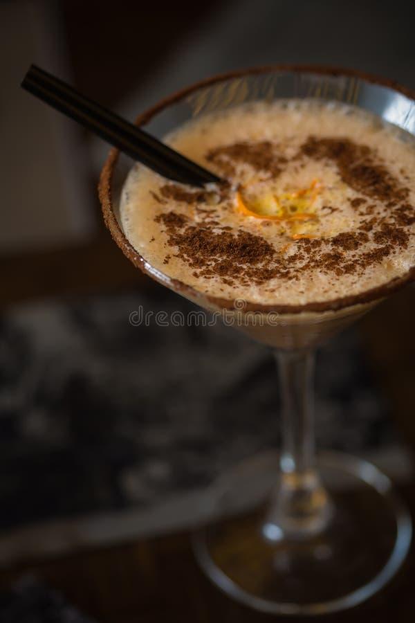 Café fresco frio do cocktail com laranja fotos de stock