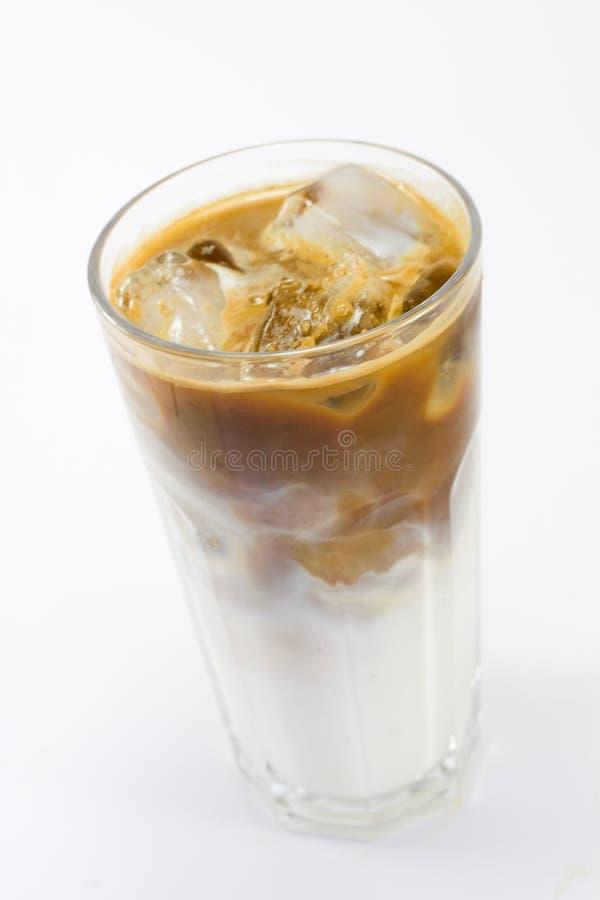 Café frio com leite fotografia de stock royalty free