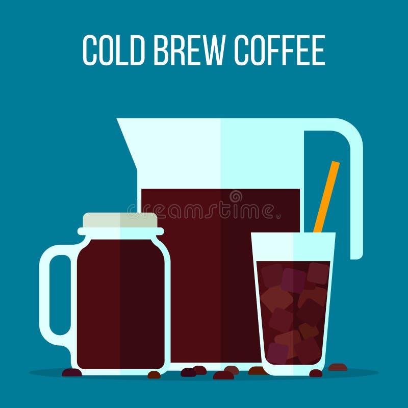 Café froid de brew illustration de vecteur