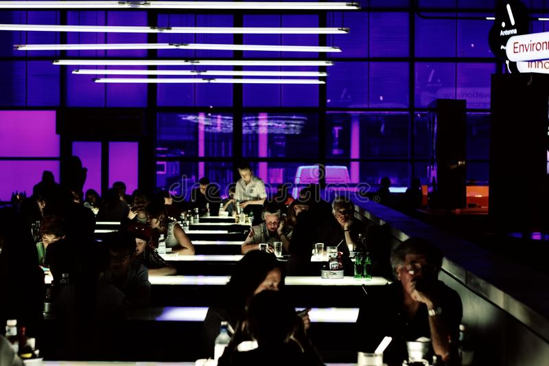 Café futuro imagen de archivo